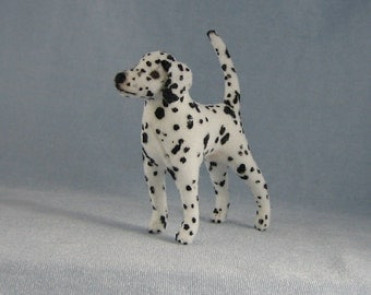 Dalmatian Soft Sculpture Miniature Dog by Marie W. Evans