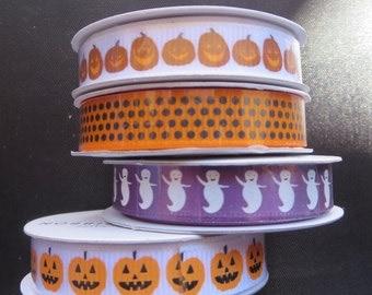 4 Spools Of American Craft Halloween Ribbon