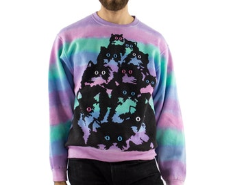 Rainbow Crazy Kitty Sweatshirt