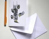 Blank Card - The Bird Feeder