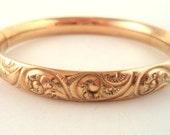 1/10 GF Bangle Bracelet Victorian Style