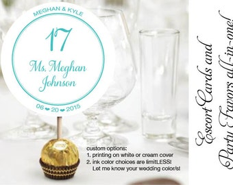 Unique Ferrero Rocher Wedding Reception Chocolate Truffles Escort or place card cards party favor favors designed with chocolate in mind!