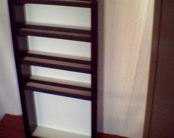 Slim Black White 27 x 14 in Nail Polish Rack  80 Plus Ct