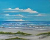 Sanibel Island Seascape  Art Oil on Panel Painting Florida Beach