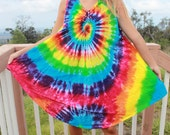 Tie dye Free size dress upcycled