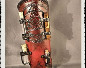 Red leather bracer - Alchemist II