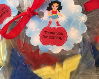 Wonder Woman Soap Party Favors: Baby Shower Favors, Birthday favors, Soap favors, Justice League Favors, Wedding Favors, Baby Sprinkle