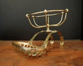Vintage / Antique Brass Soap Dish / Tray and Strainer / Vintage Bathtub /