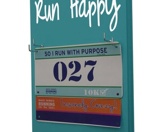 This Race Bib Holders offer a perfect Display for your running awards - Run Happy