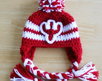 Indiana University hat for baby, Indiana Hoosiers, baby gift, newborn hat, IU cap, IU hat, Newborn to 12 month sizes