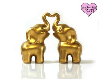 Cute Elephant Wedding Cake Toppers