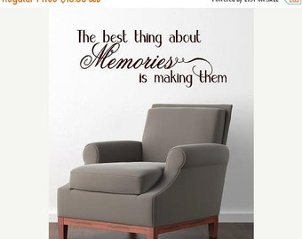 15% OFF The best thing about memories is making them -Vinyl Lettering  decalwall words graphics Home decor itswritteninvinyl