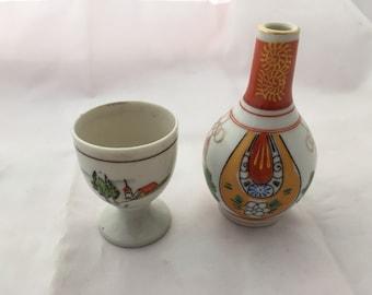 Japanese Sake Bottle & Cup set
