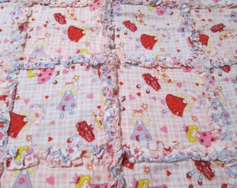 Dancing Fairies and Coordinating Hearts Rag Quilt