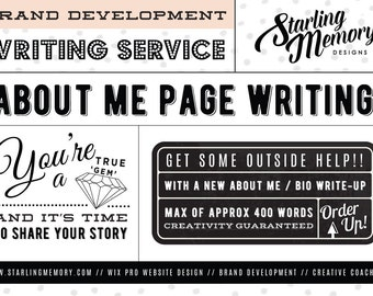 ABOUT ME PAGE Writing Service - Copy Writing Service - Content Writing - Website Writing Service - Bio Page Writing - Custom About Page