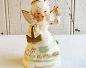 Vintage Napco August Birthday Angel - Made in Japan - Mid-Century 1950s