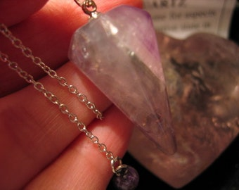 FLUORITE PENDULUM on a Sterling Silver chain