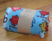 Flannel Fitted Crib Sheet - Mr. Men
