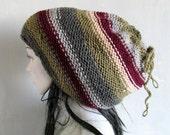 Dreadlock tube hat Headband Head wrap in black Dreadlocks beanie Open beanie Dreads beanie hat Hand knit hat Women knit hat Mans tube hat