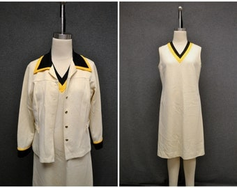 1970s Sears Polyester Jacket and Dress Set