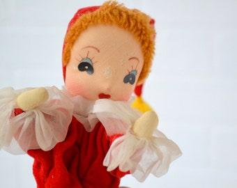 1960s Clown Pose Doll