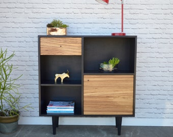 Cordial Console Credenza Featuring Zebra Wood