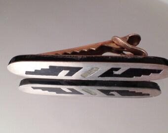 Vintage Men's Tie Bar Mexican Silver Mid-Century  Jewelry Taxco