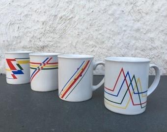 Bauhaus Style Mugs Set