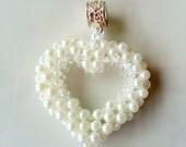 Valentine Heart Necklace - Valentine Heart Jewelry - Wedding Heart Necklace - Valentine Heart Pendant - Wedding Heart Pendant - Bridal Heart