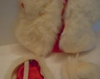 Cosmopolitan Ginger Fur Coat Hat Muff Doll Coat and Hat