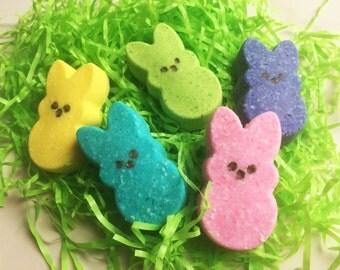 HOLLA At MY PEEPS Bath Candy - Bath Fizzy Peep Bombs!  Wrapped Ready, Easter Bunny Basket, Gift, Egg Hunt, Party Favor Girls Boys Bath Fun!
