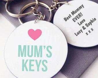 Mum's Keys Keyring