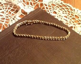 14k Yellow Gold Double Rope Bracelet Beautiful Vintage Fine Jewelry