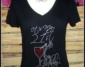 Its My 21st Birthday Tshirt rhinestone birthday shirt Adult birthday shirt adult wine birthday shirt 21 birthday shirt