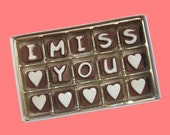 Long Distance Relationship Distant Love Gift Valentines Personalized Men Boyfriend Gift Women Girlfriend I Miss You Custom Chocolate Message