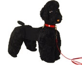 Vintage French Poodle Novelty Bag, Toy Poodle, 1930s, Made in France