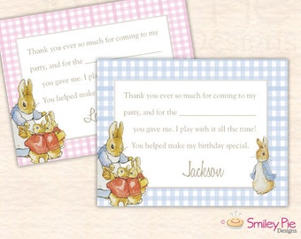 Peter Rabbit Thank You Cards – Boy or Girl