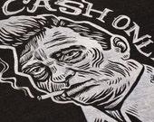 Cash Only Johnny Cash Unisex T-Shirt (Tri-Blend)