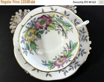 Rosina Tea Cup, Vintage Cup and Saucer, English Bone China, Vintage Teacups 13101