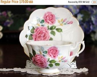 Shelley Teacup Cup and Saucer, England, Tea Cups, Vintage Bone China, Atholl Shape 13530