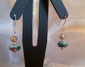 Sterling Silver and Ceramic Bead Earrings