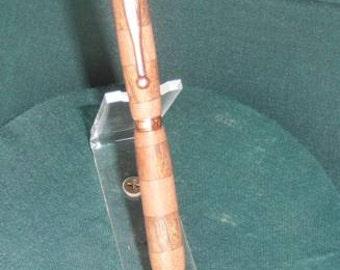Handcrafted wooden twist type pen, NC Walnut and Hawaiian Ohia
