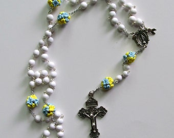 Down Syndrome Flower Ball Rosary, Special Needs