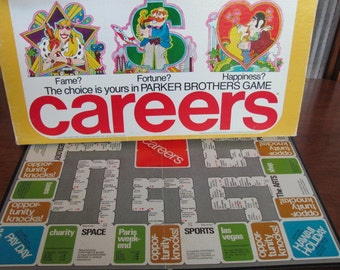 """Vintage """"Careers"""" Board Game - ages 8+ - 1976 - Family Game - Game Night  - Parker Brothers - 70's Game - Boardgame"""