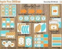 SALE Goldfish Party Package Printable DIGITAL Party