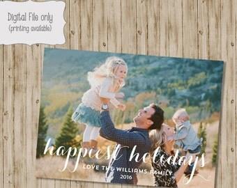 Christmas photo card, photo card photo Christmas, Happy Holidays, Happy Holidays photo, Christmas holiday card, printable holiday card