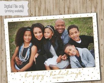 Christmas Photo Card, Holiday Photo Card, Holiday Card, Christmas Card, Gold Foil Christmas Card, Glitter, Christmas Photo, Holiday Photo