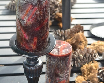Pair Candle~Pillar Candles~ Artisan Candle~ Super Strong~Cranberry Spice~#1 Seller