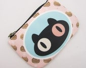 Cookie Cat Double sided Coin Purse