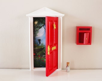 Opening red elf door with red mail box